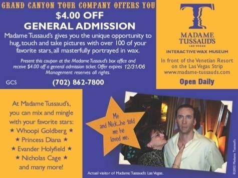 Madame Tussauds Las Vegas Coupon