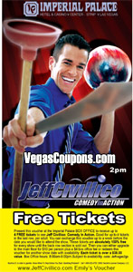Free Jeff Civillico Show Tickets at Imperial Palace