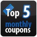 top five monthly coupons